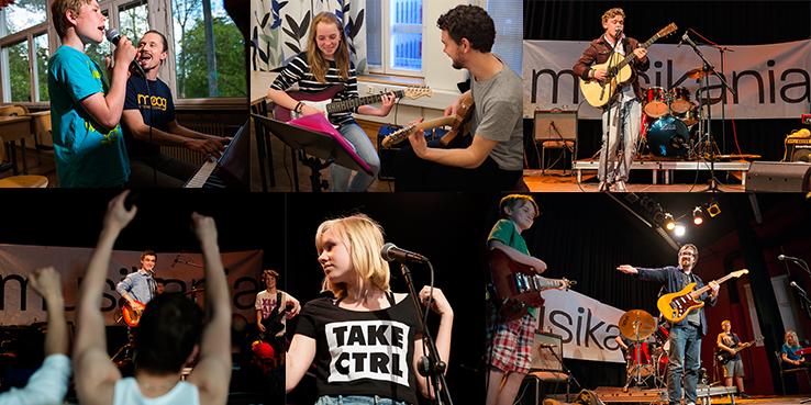 Spela piano, gitarr, bas, trummor eller ta sånglektioner i Nacka.